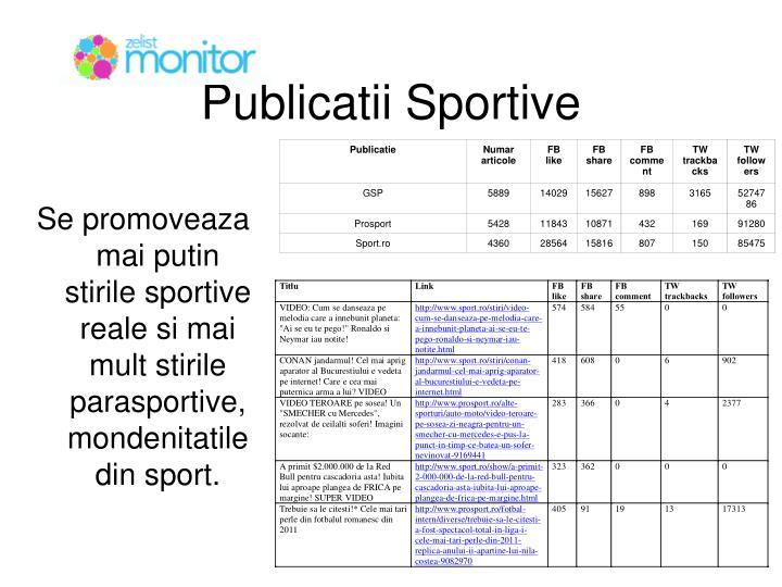 Publicatii Sportive