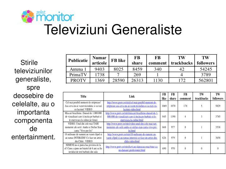 Televiziuni Generaliste