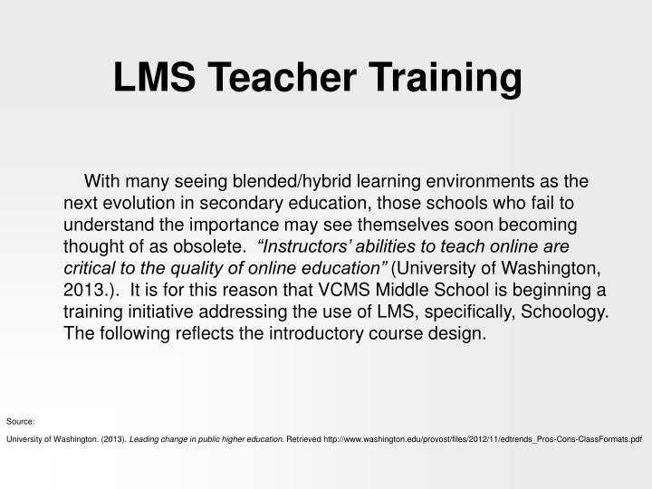 LMS Teacher Training