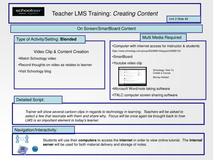 Teacher LMS Training: