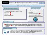 teacher lms training evaluation of assessments