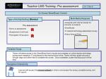 teacher lms training pre assessment
