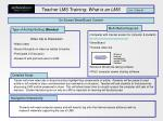 teacher lms training what is an lms