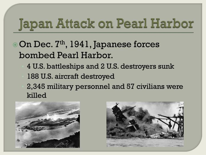 an analysis of the japanese led attack on pearl harbor in december 1941 Two heroic american aviators led a spirited defense against the japanese at pearl harbor on december 7, 1941.