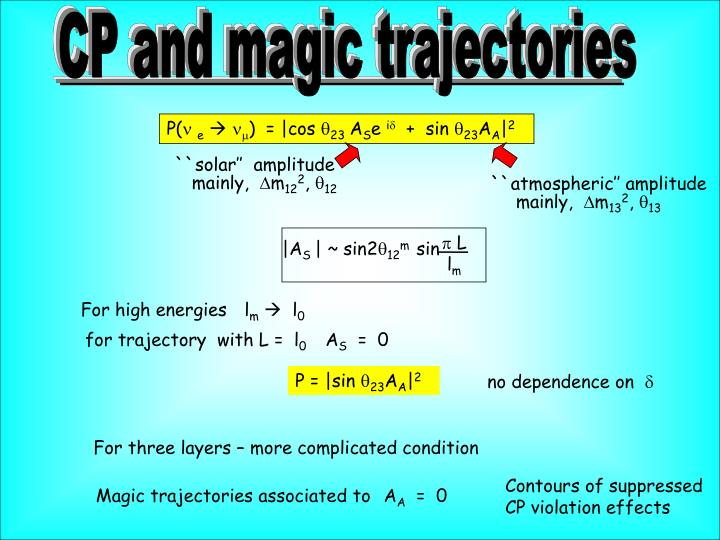 CP and magic trajectories
