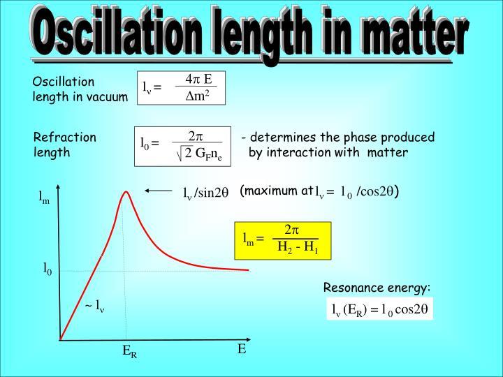 Oscillation length in matter