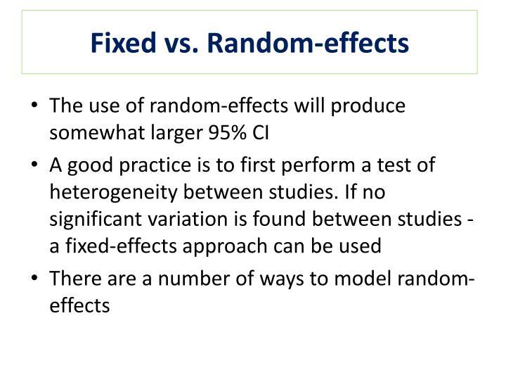 Fixed vs. Random-effects