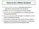 how to do a meta analysis