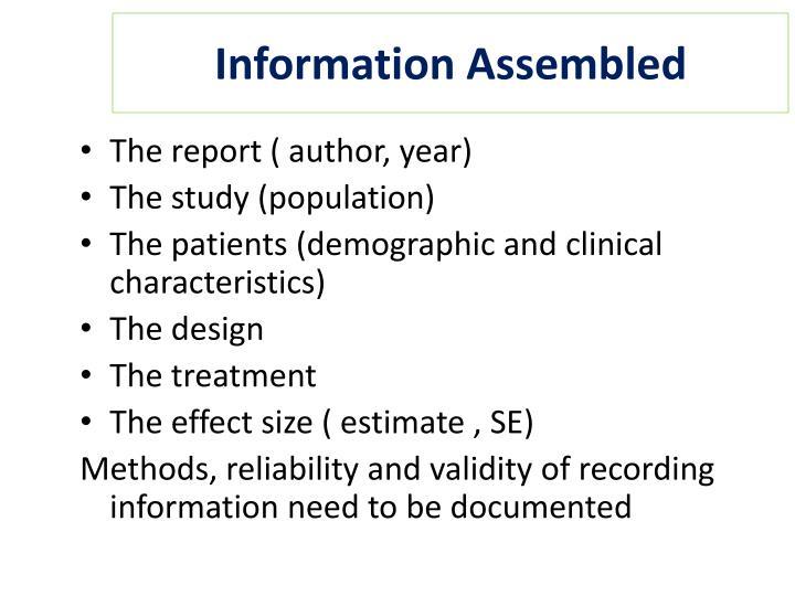 Information Assembled