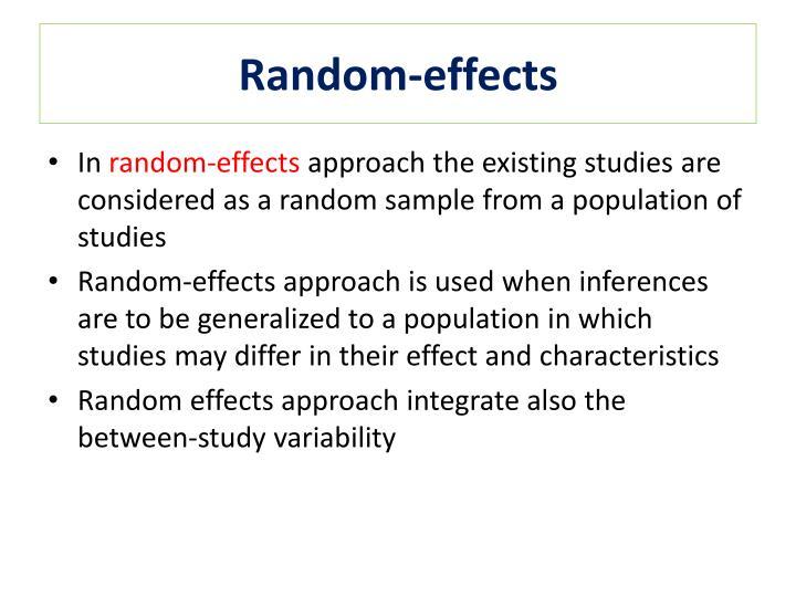 Random-effects