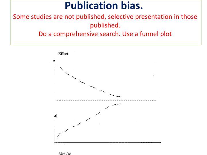 Publication bias.
