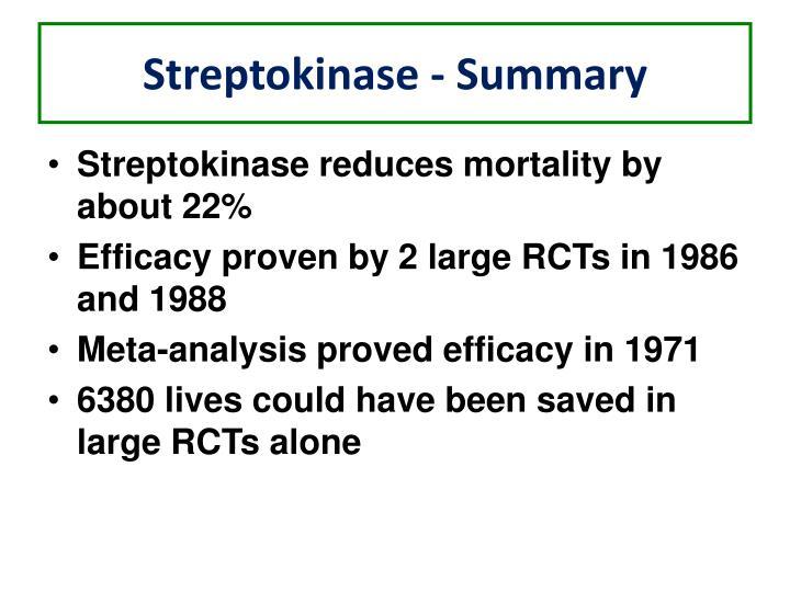 Streptokinase - Summary