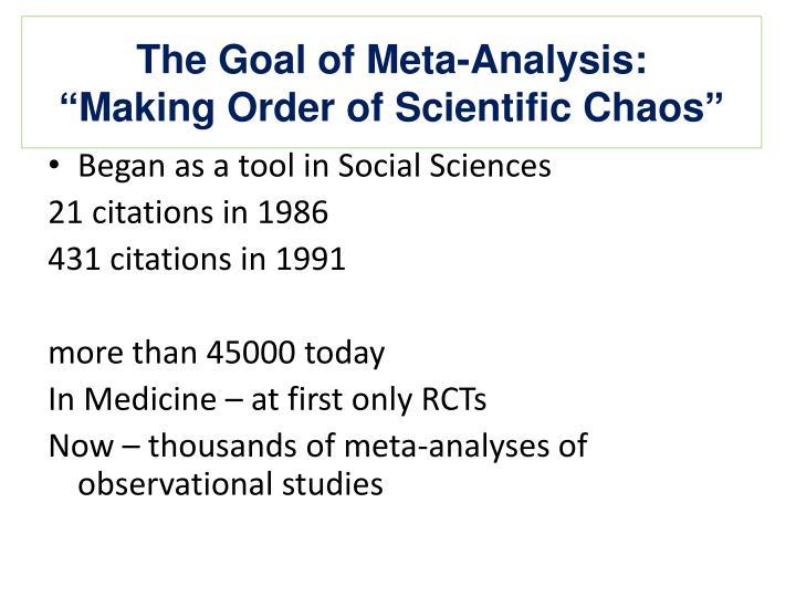 The Goal of Meta-Analysis: