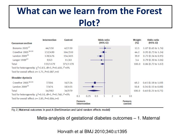 What can we learn from the Forest Plot?