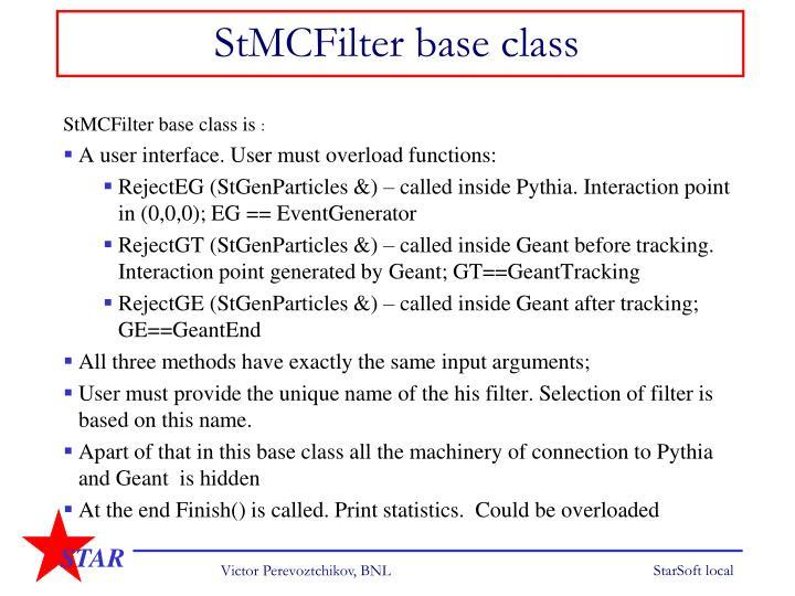 StMCFilter base class