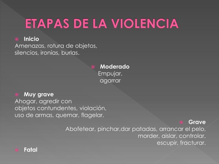 ETAPAS DE LA VIOLENCIA