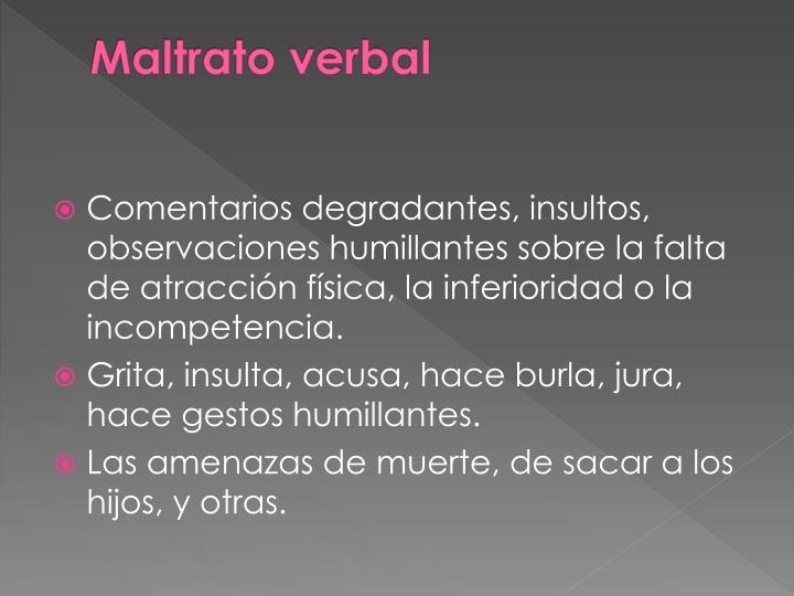 Maltrato verbal