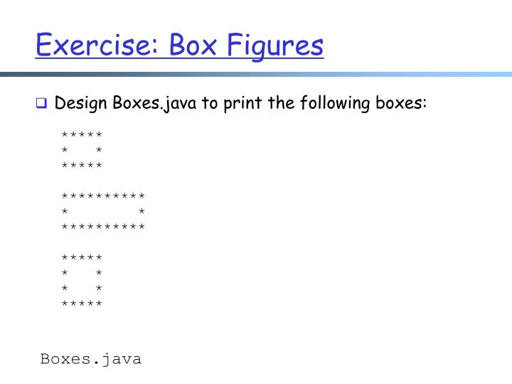 Exercise: Box Figures