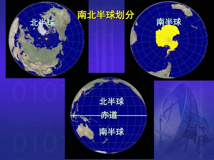 南北半球划分