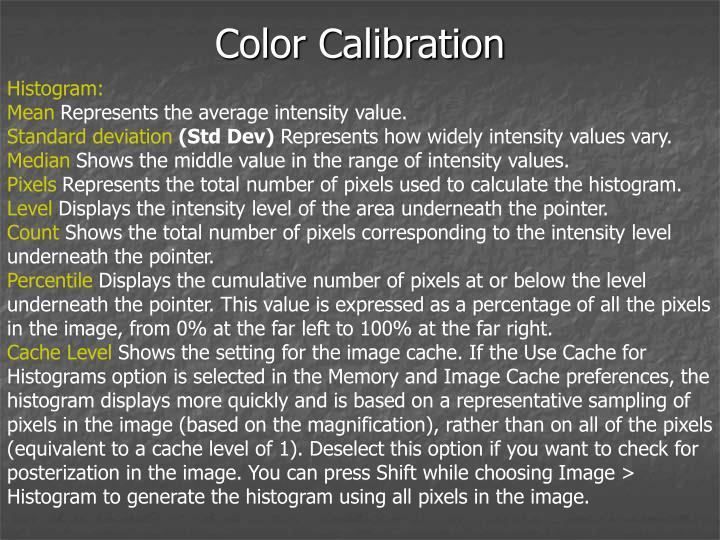 Color Calibration