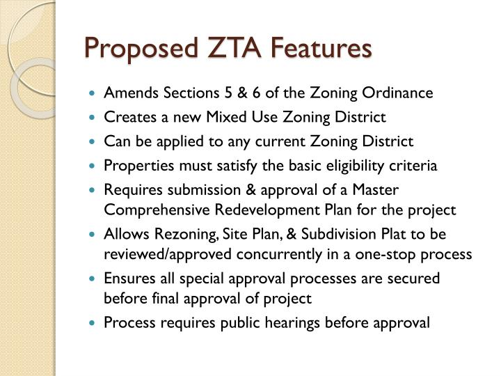 Proposed zta features