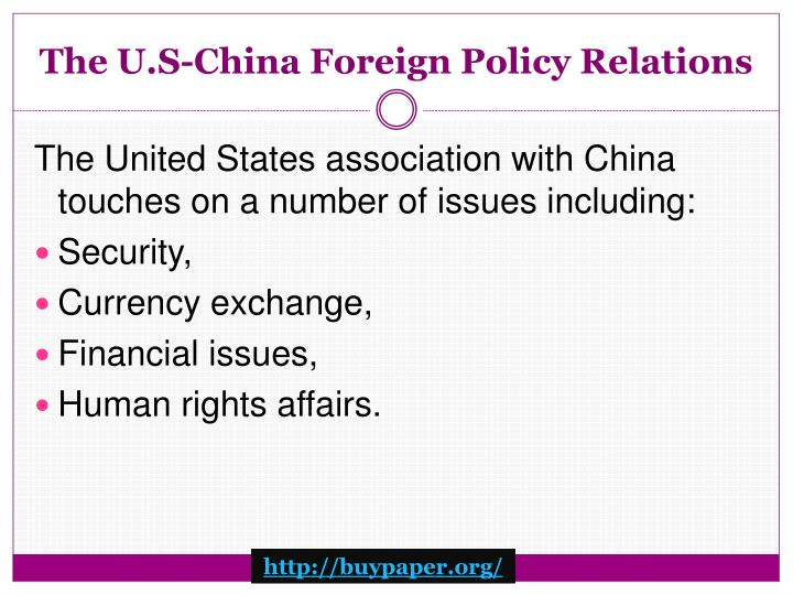 The u s china foreign policy relations1