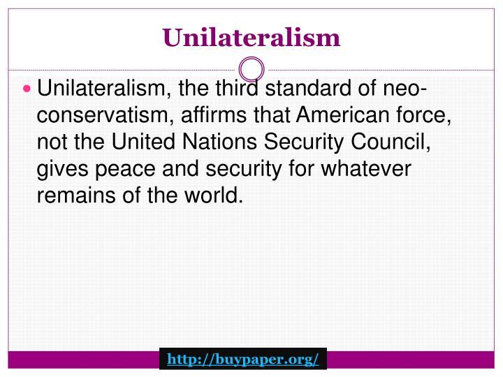 Unilateralism
