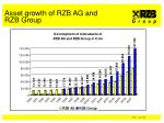 asset growth of rzb ag and rzb group