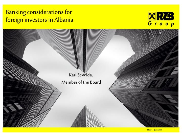 banking considerations for foreign investors in albania