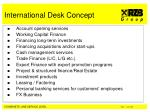 international desk concept