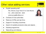 other value adding services
