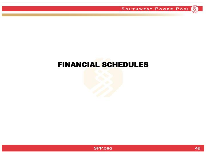 FINANCIAL SCHEDULES