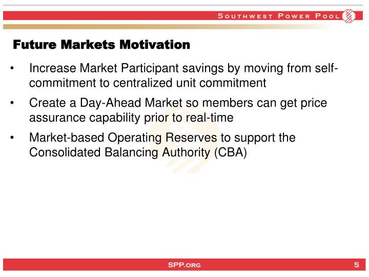 Future Markets Motivation