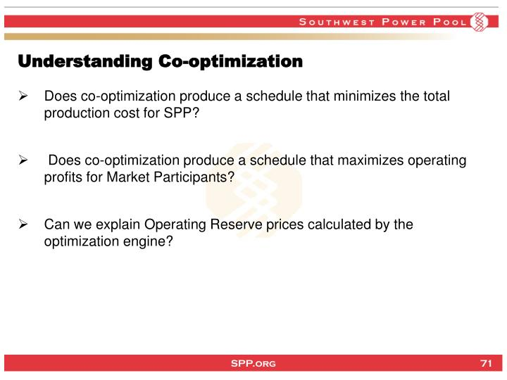 Understanding Co-optimization