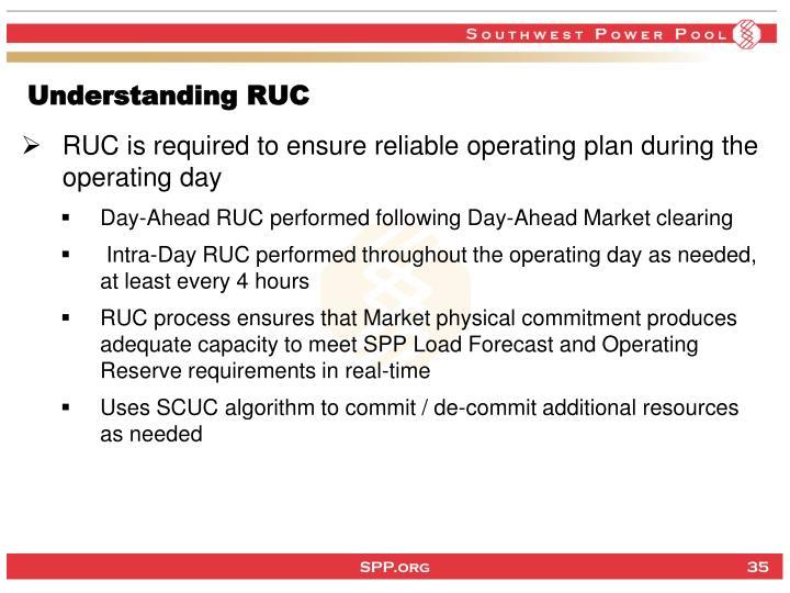 Understanding RUC