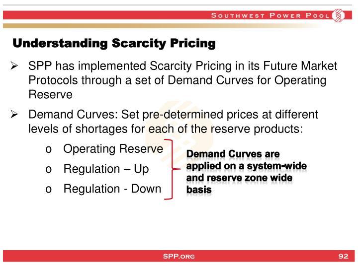 Understanding Scarcity Pricing