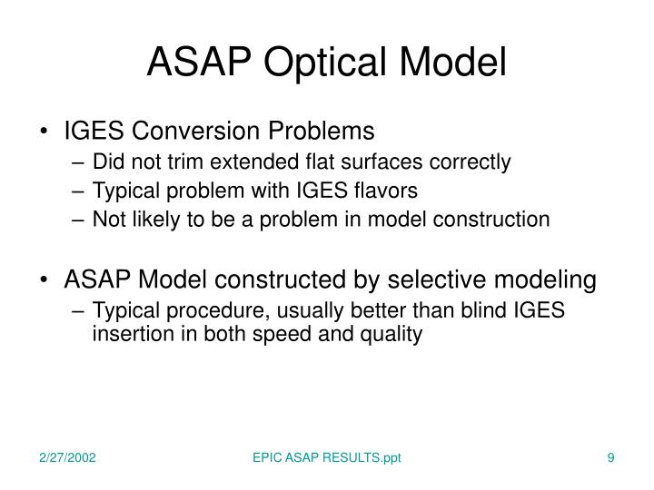 ASAP Optical Model
