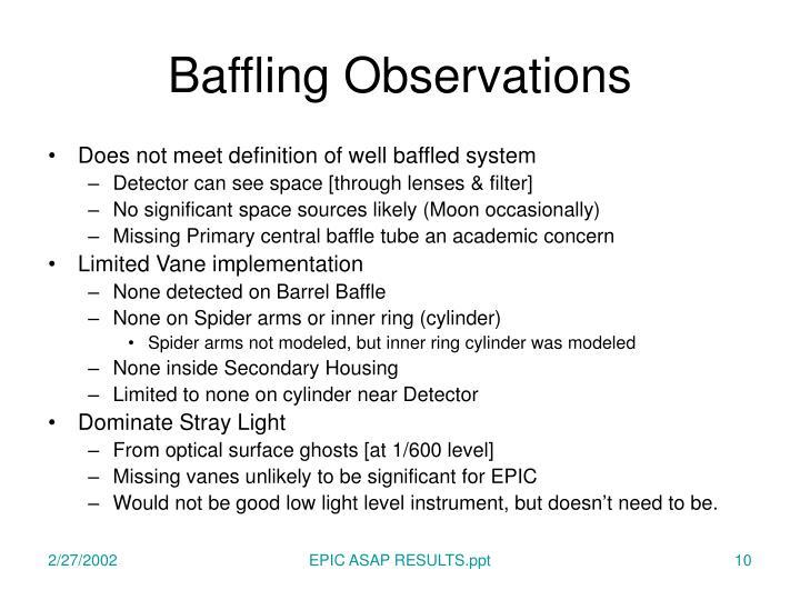 Baffling Observations