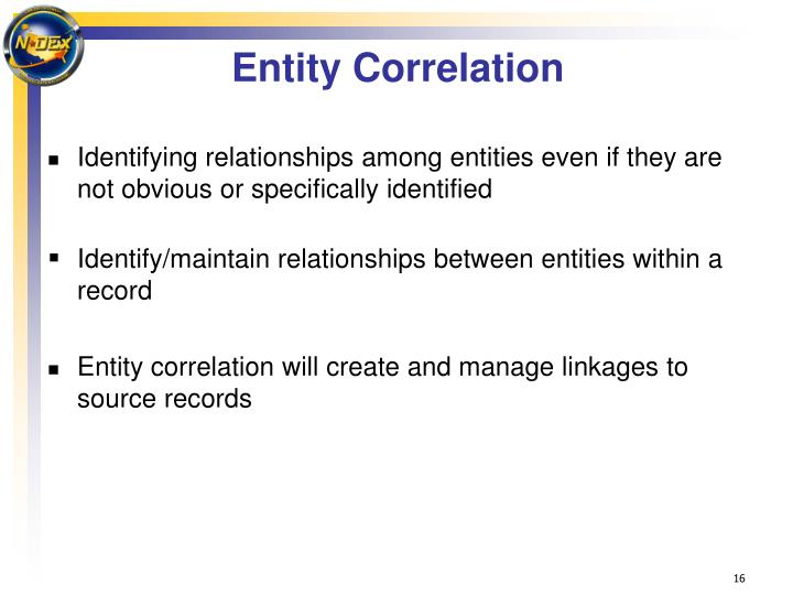 Entity Correlation