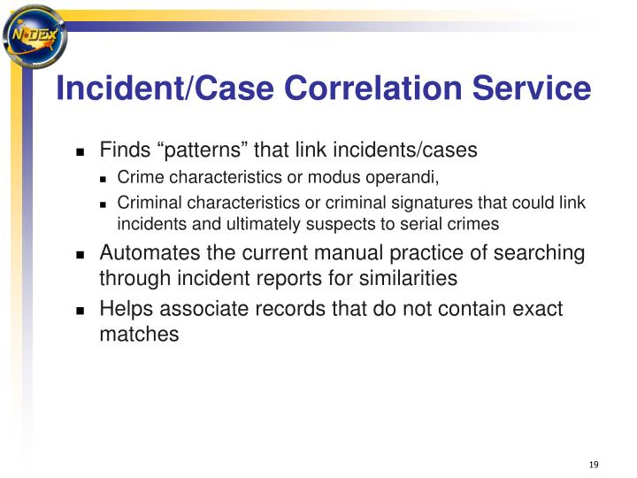 Incident/Case Correlation Service