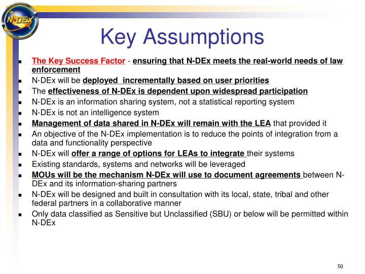 Key Assumptions