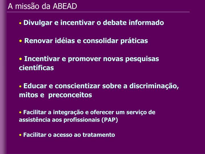 A missão da ABEAD