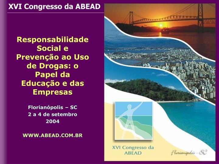 XVI Congresso da ABEAD