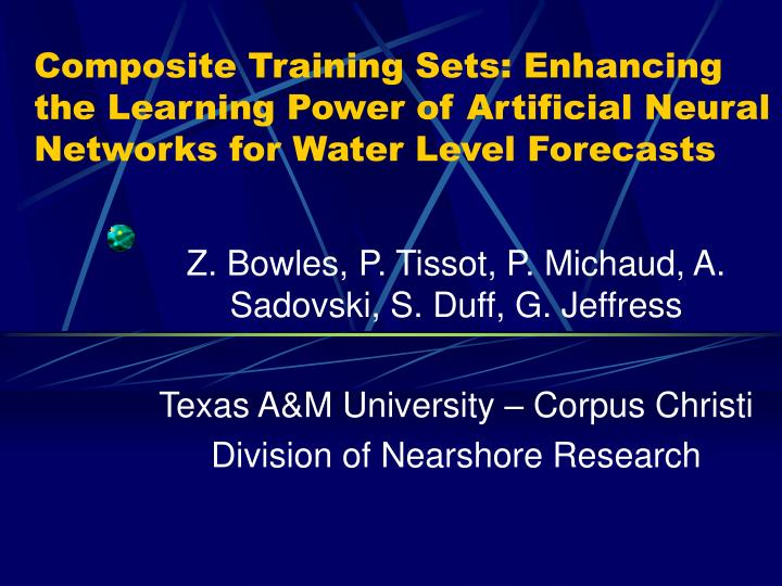 Composite Training Sets: Enhancing the Learning Power of Artificial Neural Networks for Water Level ...