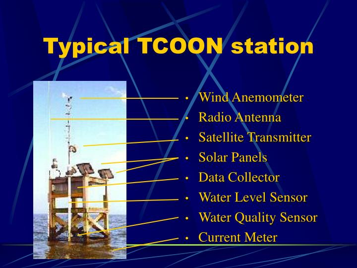 Typical TCOON station