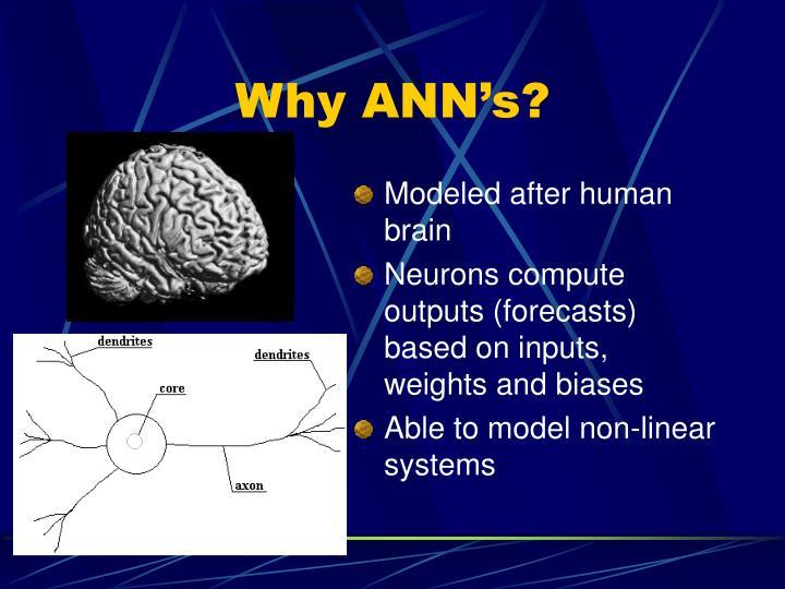 Why ANN's?
