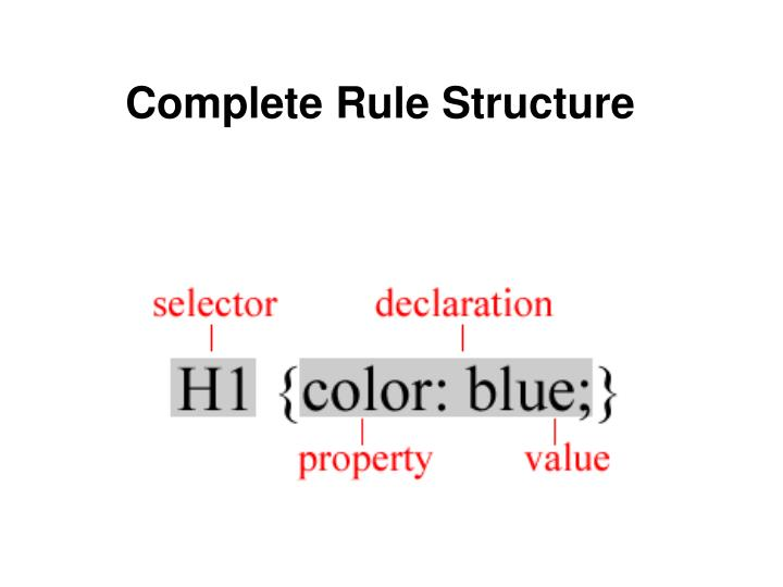 Complete Rule Structure