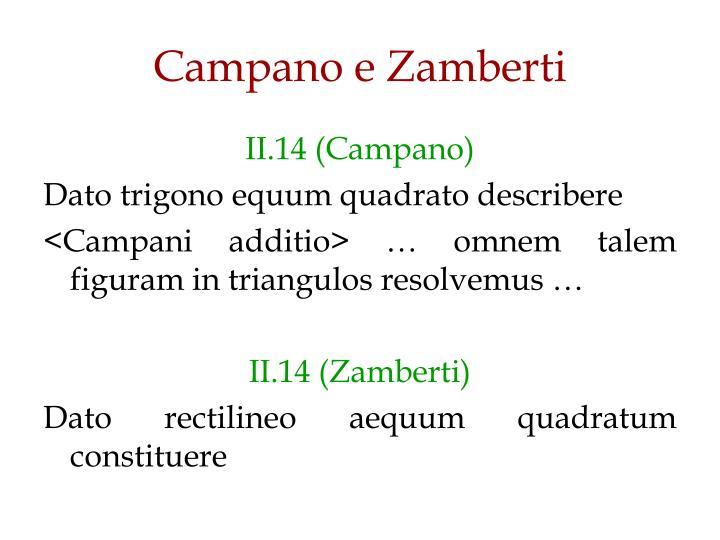Campano e Zamberti