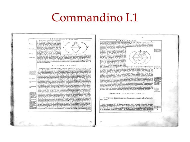 Commandino I.1