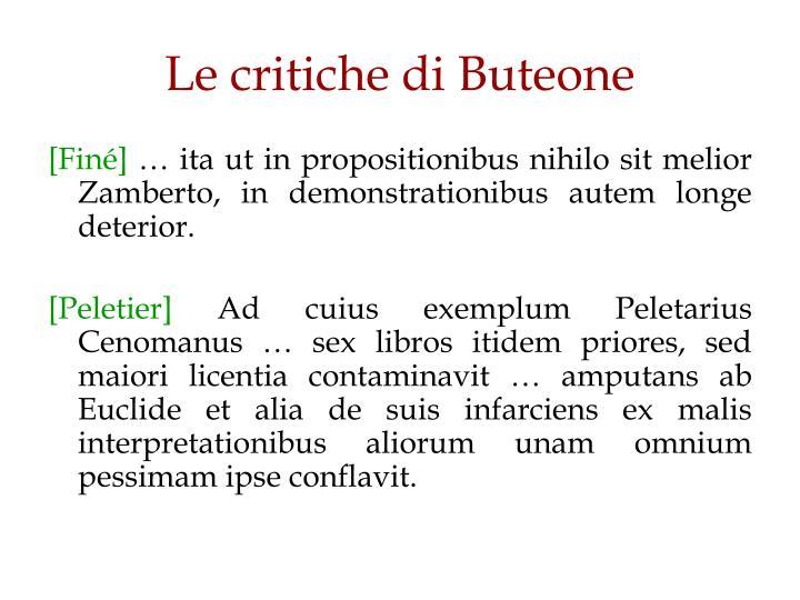 Le critiche di Buteone